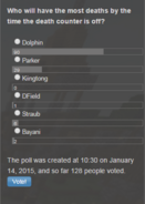 Poll - Death Counter Most