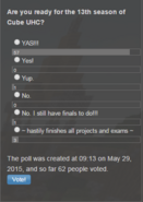 Poll Cube UHC S13