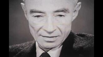"J. Robert Oppenheimer- ""I am become Death, the destroyer of worlds."""