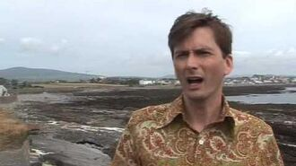 David Tennant on the set of Decoy Bride