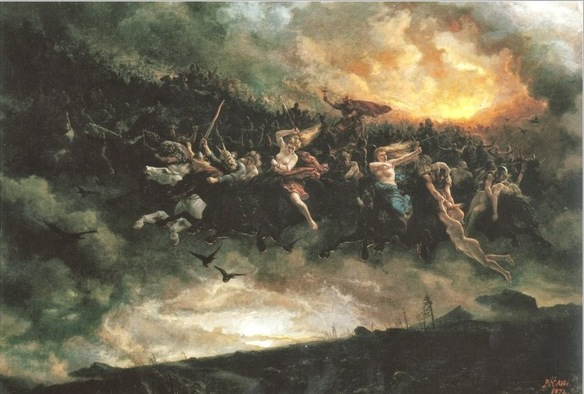 Image of war of Norse gods