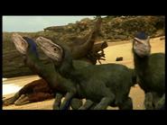 Dromeosaurs looking