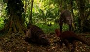 Pyroraptor and Tarascosaur pair