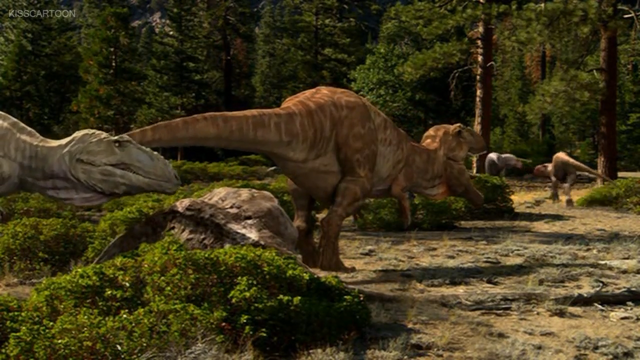File:Carcharodontosaur scaring away Aucasaurs.png