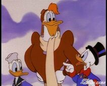 Scrooge with Launchpad and Donald