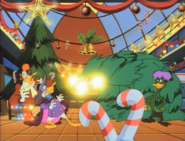 Bushroot sics Christmas trees on Darkwing and Launchpad