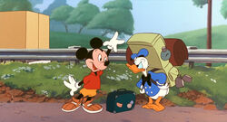 Mickey and Donald in A Goofy Movie
