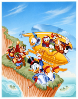 DuckTales textless NES cover art