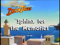 Sphinx for the Memories titlecard