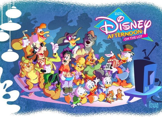 Disney Afternoon on the Lot publicity print