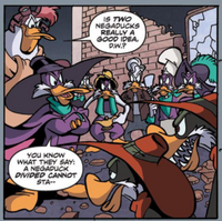 Divided and confronted (Darkwing Duck)