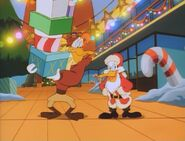 Darkwing disguised as Santa