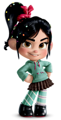 File:Vanellope 3D and 2D's phto's by Wreck-ItEve105.png