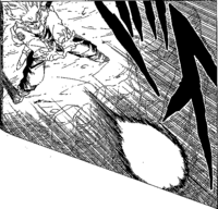 DBZ Manga Chapter 331 - SS F Trunks uses Burning Attack 3