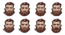 Tungdil facial expressions