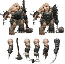 Ogre concept art The Dwarves