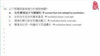 【文宣學社】生物 DSE 2013 Paper1 MC Q22