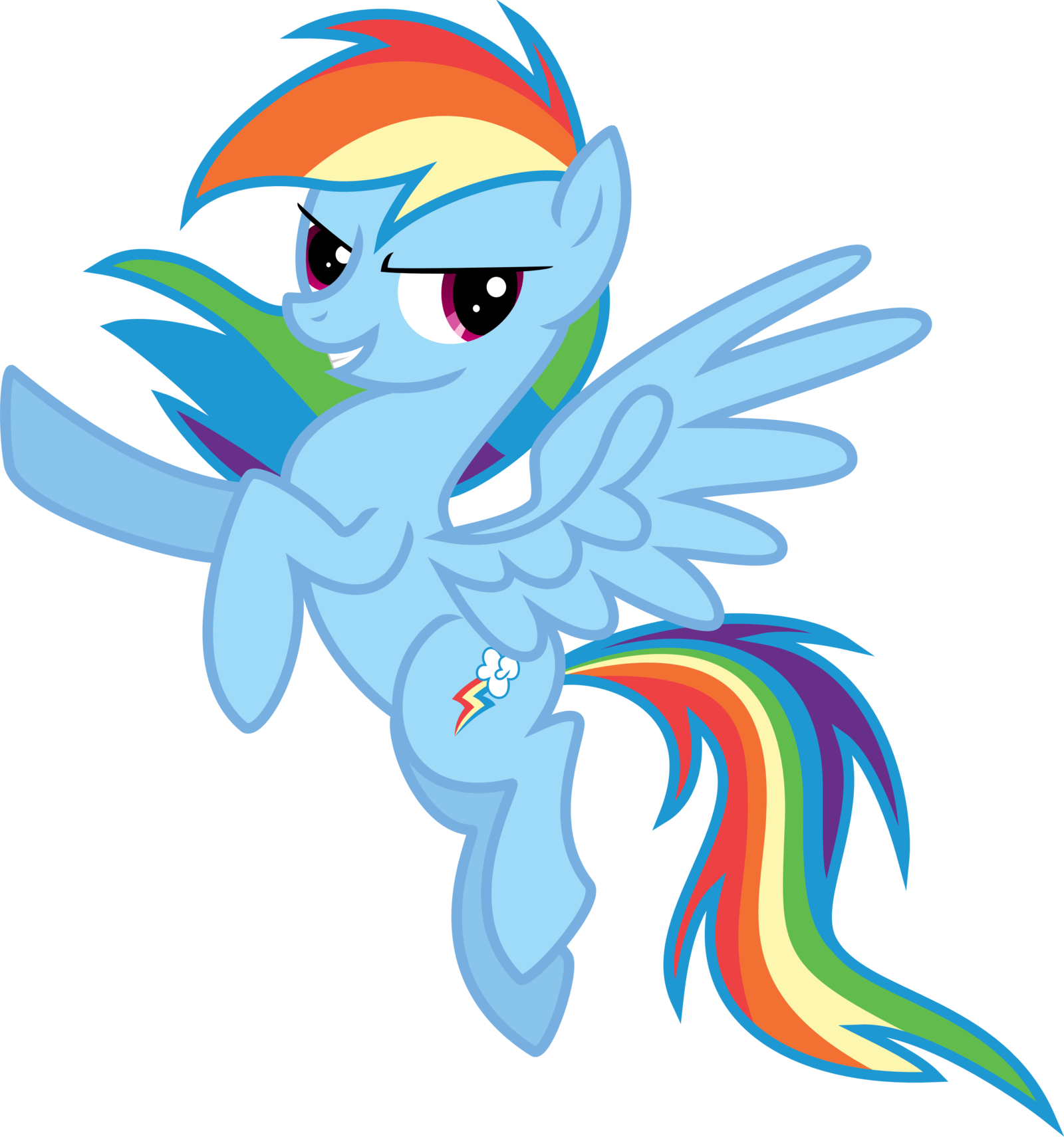 Rainbow Dash Vector Color By Eltrueno D5gffm2