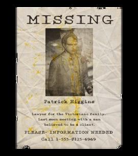 TEW1 MissingPoster Patrick