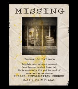 TEW1 MissingPoster Fernando