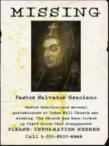 Pastor Salvador Graciano  Missing Person Posters
