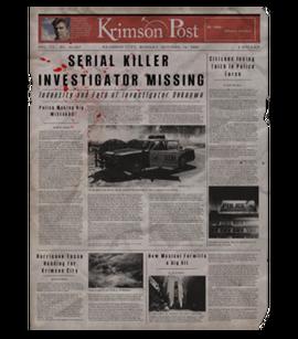 TEW1 Newspaper Investigator Missing