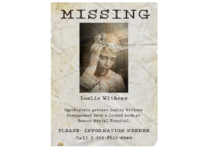 TEW1 Missing Poster