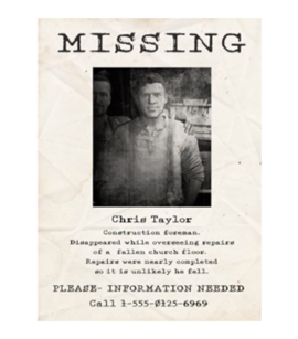 TEW1 MissingPoster Chris