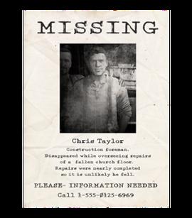 TEW1 MissingPoster Chris