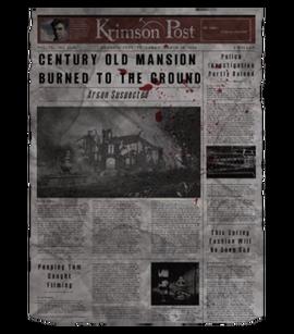 TEW1 Newspaper Mansion Burns Down