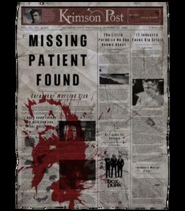 TEW1 Newspaper Missing Patient Found