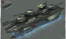 Soviet Destroyer concept art