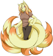 Akane the ninetales by akane the fox-d4y1f7x