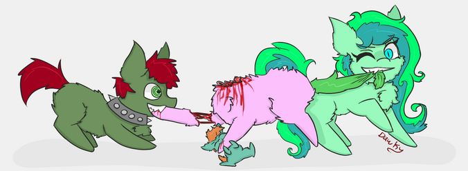 48954 - artist dawkygifowwies author deadweight blood cannibals claire dead deadweight fanart explictish familly dinner fluffies fluffy headless lacero puck safe tug of war