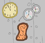 Weird clocks badge