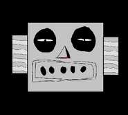 Scary robot head