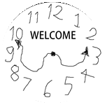 Badge Clockwelcome