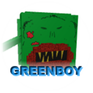 Badge monster greenboy