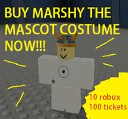 Mascot costume sign