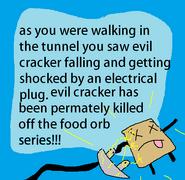 Evil cracker death