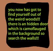 Weird woods sign