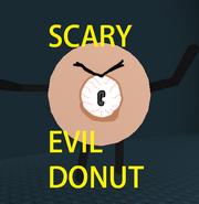 Scary evil donut