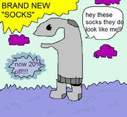 Socks ad
