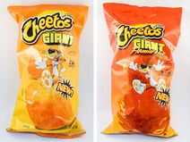 Cheetos Giant Regular and Flamin' Hot