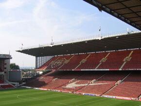 Arsenal Stadium interior North Bank
