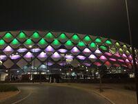 Hazza Bin Zayed Stadium night