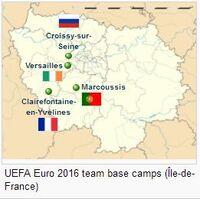 Ile-de-France region location map