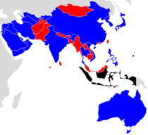 2019 AFC Asian Cup qualifying map