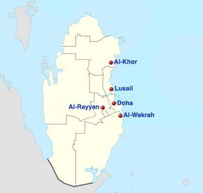 Qatar adm location map