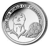 2005 Belgium 20 Euro FIFA World Cup front